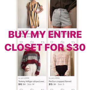 Entire closet for $30